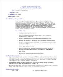 Sample Resume For Purchasing Agent by Purchasing Agent Job Description 9 Free Pdf Word Documents