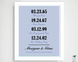 1st anniversary gifts for husband what a difference a day makes newlyweds special date 1st