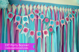 Simple Birthday Decorations At Home by Diy Diy Birthday Banner Popular Home Design Amazing Simple At