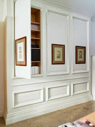 built in hallway cabinets hidden storage great use of space and architecturally interesting