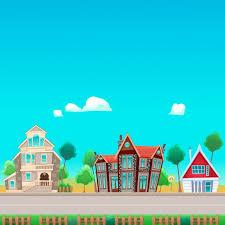 three houses three houses across the vector free