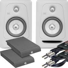 krk home theater krk rokit rp5 g3 white noise pair ah isolation pads leads