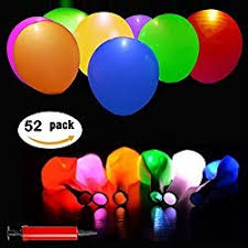 glow in the balloons 52 pack led balloons mixed color led glow balloons light