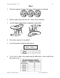 3rd grade common core math daily math practice worksheets