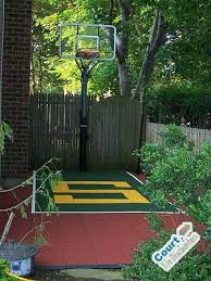 Backyard Basketball Hoops by Small Backyard Basketball Court Contemporary Home Gym