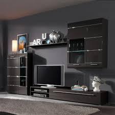 Wohnzimmerschrank Beleuchtung Star Wohnwand 4 Teilig Anthrazit Hochglanz Inklusive