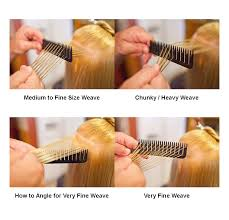 highlighting fine hair perfect hair weaver foiling comb