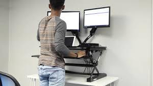 Stand Desks by Newswatch Flexispot Sit Stand Desks Youtube