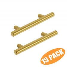 modern gold kitchen cabinet handles probrico kitchen cabinet handles brushed brass 3 inch gold drawer pulls modern t bar hardware 15 pack
