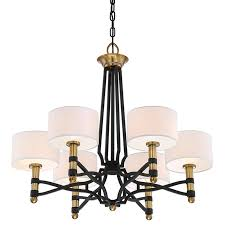 bold contemporary mixed metal chandelier shades light