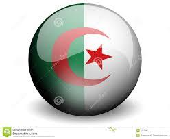 Algerian Flag Round Flag Of Algeria Stock Illustration Image Of Moon 4715395