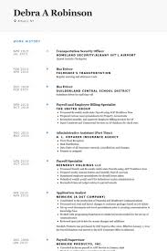 Payroll Resume Template Employee Resume Samples Visualcv Resume Samples Database