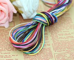 leather bracelet craft images 10colors lot 1 5mmx 50m polyester poly cord string waxed jpg