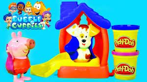 bubble guppies color changer bathtime puppy play doh muddy peppa