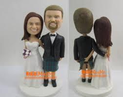 cake toppers bobblehead custom kilt topper etsy