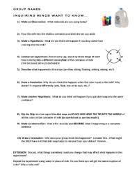color changing milk lab activity worksheet