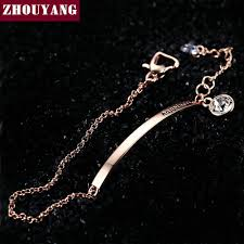 rose gold color bracelet images Top quality zyh195 ol style cubic zirconia rose gold color jpeg
