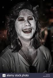 Halloween Makeup Male Male With Ghostly White Halloween Face Make Up Stock Photo