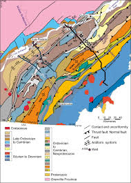 Quebec Map Simplified Geological Map Of The St Lawrence Lowlands And