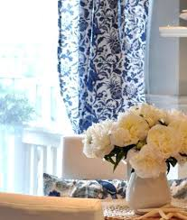 White And Blue Curtains Blue And White Drapes 4 Styles Of Blue And White Curtains With
