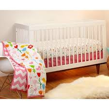 Pink Chevron Crib Bedding Bedding By Nojo By Bedding By Nojo Reversible Sweet