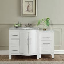 54 inch single sink vanity 54 inch single sink contemporary bathroom vanity white finish