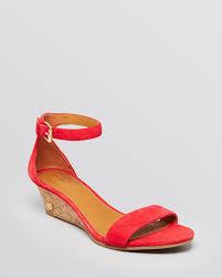 tory burch wedge sandals savannah cork bloomingdale u0027s