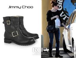 fashion motorcycle boots mandy moore s jimmy choo youth biker boots red carpet fashion awards