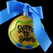 personalized ornament for swimmer christmas by pydesigned on etsy