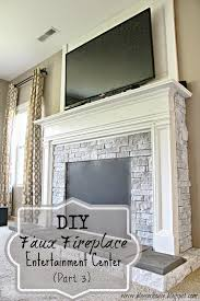 diy faux fireplace for under 600 the big reveal bless u0027er house
