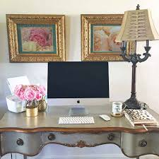 my french inspired desk fresh flowers and home office decor must