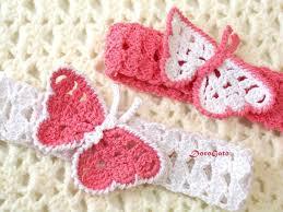 crochet headband for baby free crochet butterfly headband pattern pakbit for