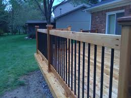 Deck Handrail Code Home Decor Metal Building How To Build Deck Railing With Metal