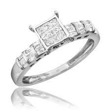 engagement rings sets 1 carat diamond trio wedding ring set 14k white gold