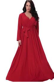 unomatch women plus size pleated maxi gown party dress red
