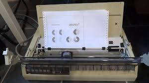 dot matrix printer in action youtube