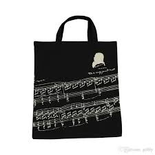 8 styles europe and american popular cotton musical notes handbags