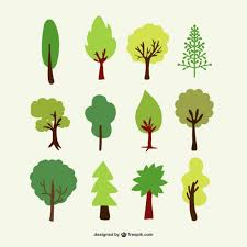 forest trees set vector free