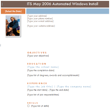 install resume wizard word 2007 resume template microsoft word