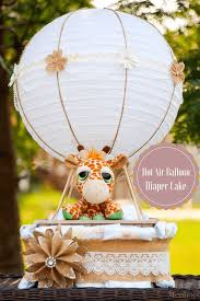 easy air balloon diaper cake for a fabulous baby shower