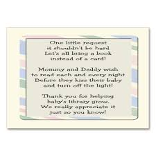 baby shower book instead of card poem baby shower gift card poem baby shower book request insert card