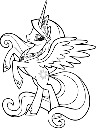my little pony friendship is magic princess cadence coloring pages