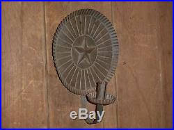 Tin Wall Sconce 19th C Early Tin Hanging Candle Holder Wall Sconce Folk