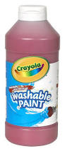 washable paint for walls amazon com crayola washable paint 16oz red toys u0026 games