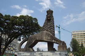 lion of judah statue file lion monument addis abeba jpg wikimedia commons