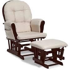 Espresso Rocking Chair Nursery Glider And Ottoman Baby Rocker Beige Cushions Espresso Rocking