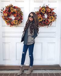 fall idea and style herringbone vest fashion