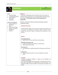 Fresher Resume Model Mca Fresher Resume Format It Cover Letter Sample For Freshers Free