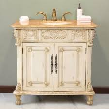 awesome antique bathroom vanity ideas with carved wood cabinet