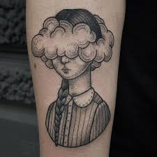 cloud tattoos for ideas and designs for guys